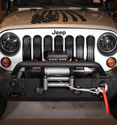 jeep rugged ridge spartan bumper and badland zxr winch install and review rv habit [ 1233 x 774 Pixel ]