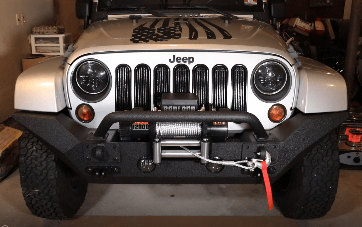 hight resolution of jeep rugged ridge spartan bumper and badland zxr winch install and review rv habit