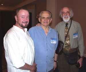 Ingo Swann with Cleve Backster and friend Stan Ojac during the 2002 Remote Viewing Conference