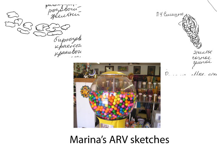 Marina's ARV sketches compared to the actual target