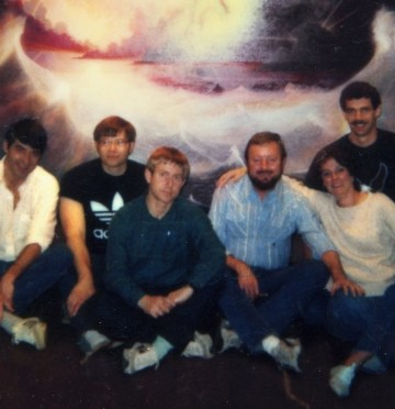 Ingo Swann with his military controlled remote viewing students in 1984