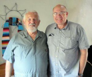 Lyn Buchanan (l) and Paul H. Smith in 2013