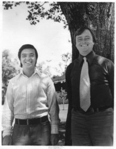 Hal Puthoff (r) and Ingo Swann early in the SRI remote viewing program