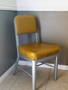 """Remote Viewing """"Power Chair""""--really just an old office chair rescued from the trash heap when the Star Gate program upgraded its furniture. This chair has hosted the derrières of all the military remote viewing greats"""