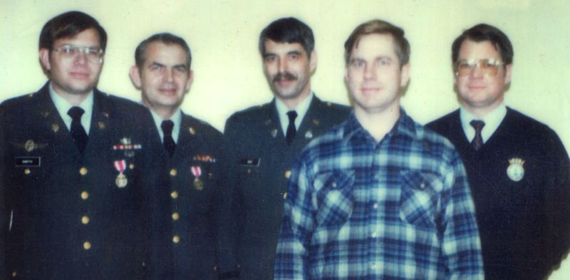Some of the real men who didn't stare at goats (L to R: Paul H. Smith, Lyn Buchanan, Bill Ray, Skip Atwater & Lt. Col. Brian Buzby