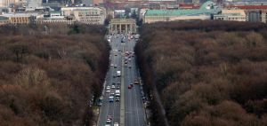 Aerial view of the Brandenburg Gate