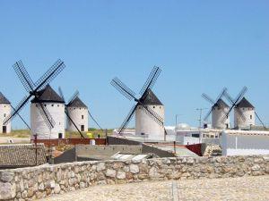 Windmills as seen from Campo de Criptana