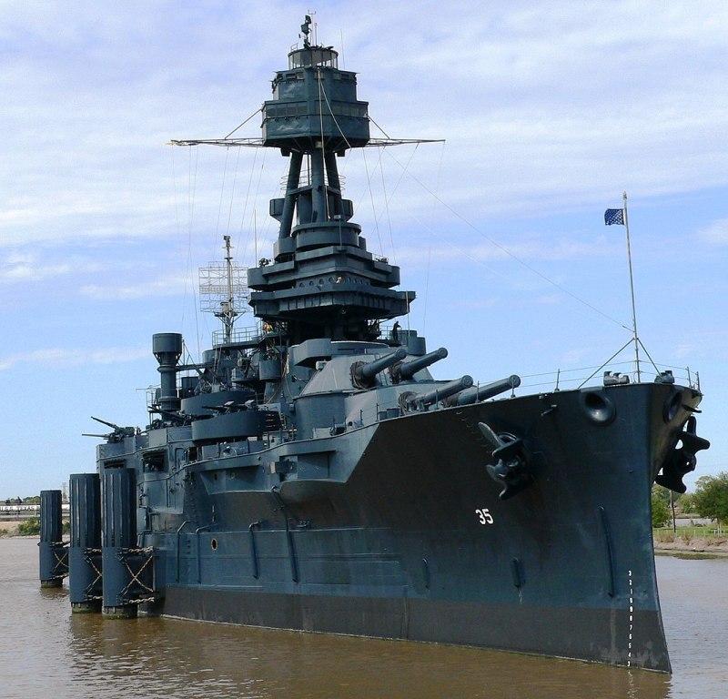 Target 323 is the Battleship Texas (BB-25)