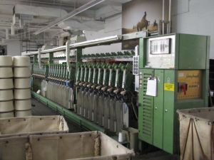 Spinning machines inside the Pendleton Woolen Mills