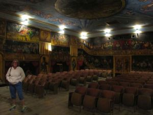 The stage in the The seats in the Amargosa Opera House were obtained from the old Boulder City, NV theater in 1983