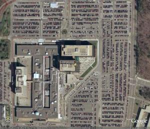A satellite image of the National Agency campus at Fort Meade