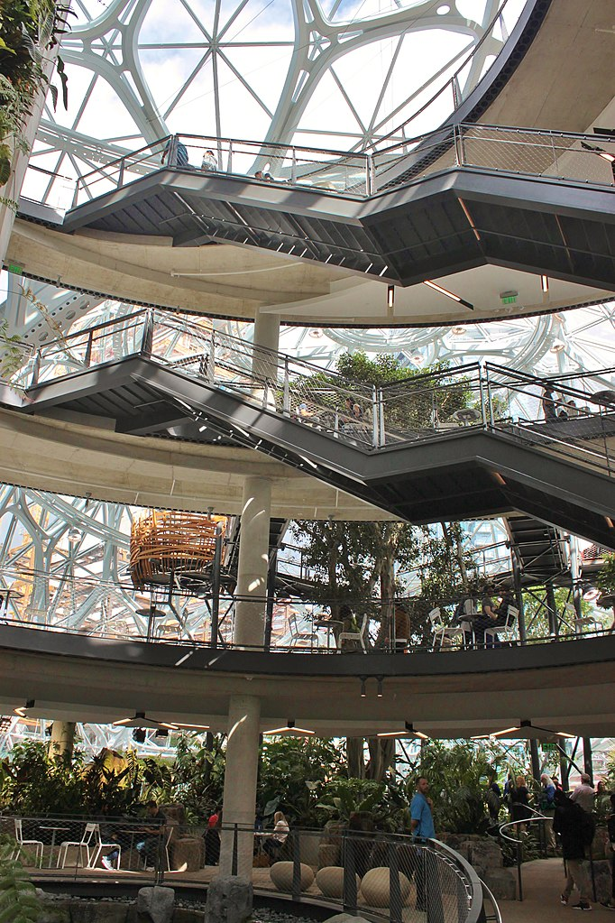 Interior view of Target 649 is the Amazon Spheres in Seattle Washington