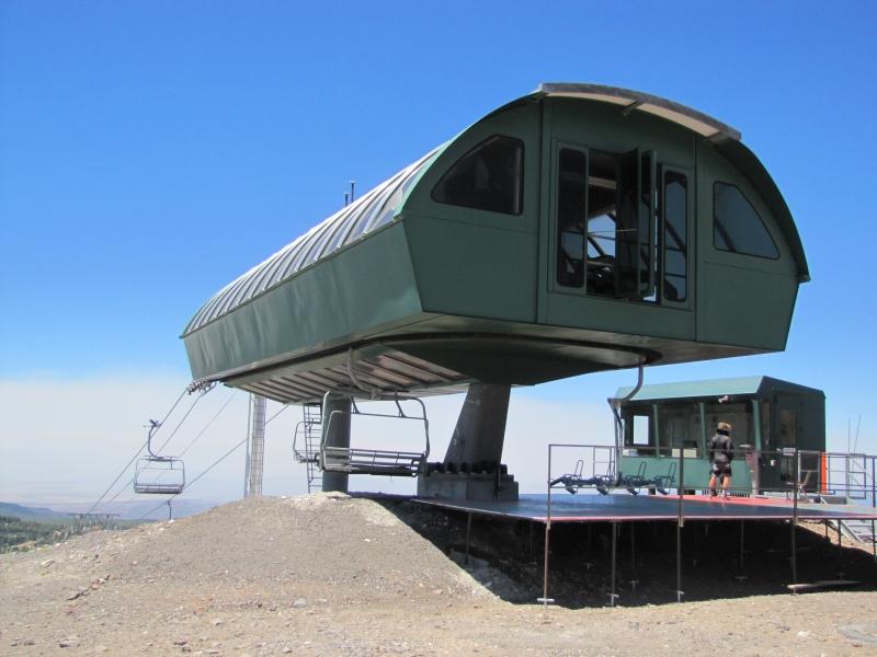 Remote viewing target 415 is a ski lift terminal at Brian Head ski resort, Utah