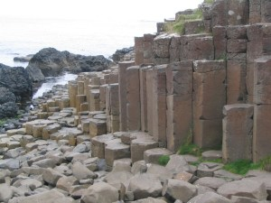 Two closeups of remote viewing target 210120418, the Giant's Causeway