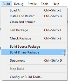Build the package binary for distribution