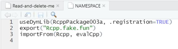 Original NAMESPACE file