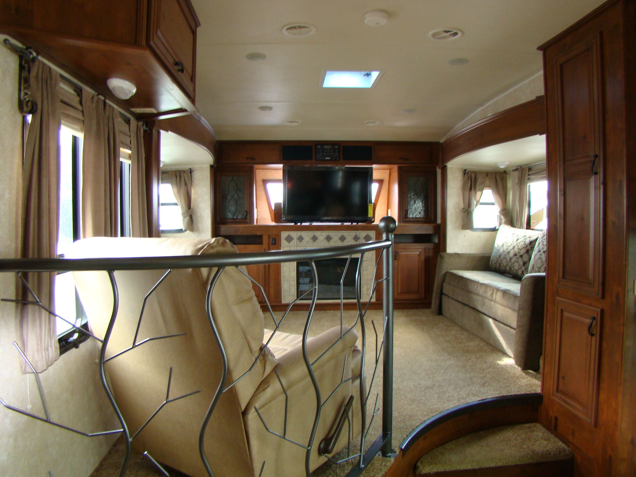 Rv With Living Room Upstairs