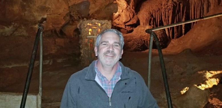 Brad Saum at Diamond cave