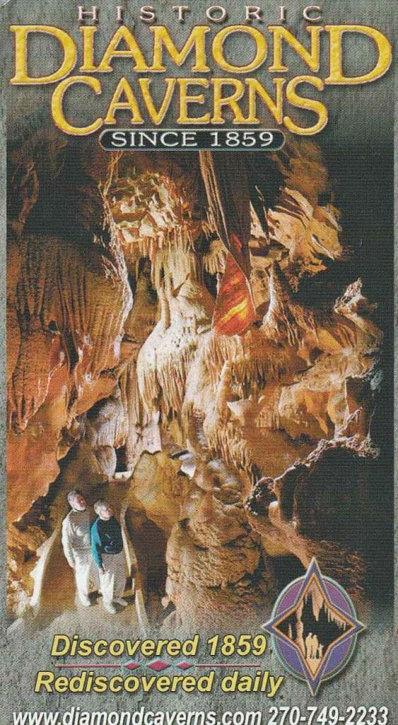 Diamond Caverns ticket for the underground cave tour.