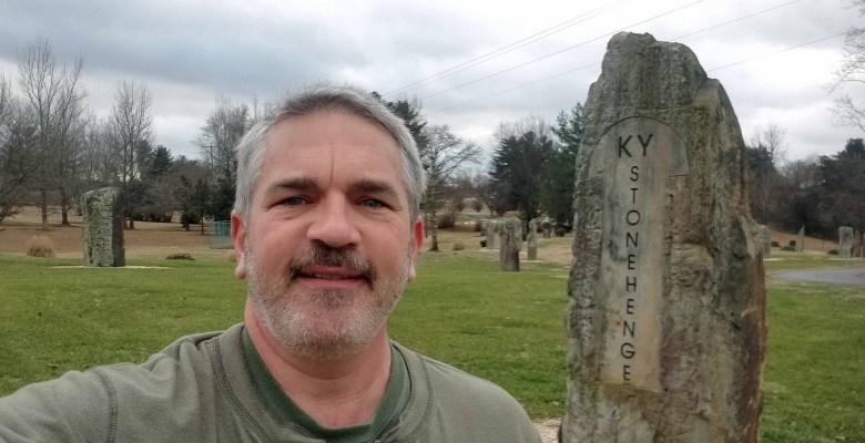 Brad Saum at Kentucky Stonehedge.