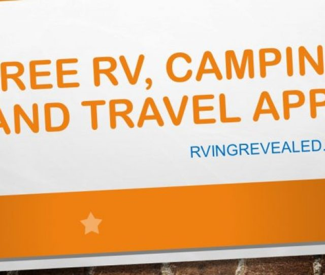 Free Rv Camping And Travel Apps