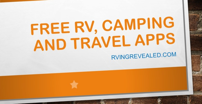 RV Travel Apps