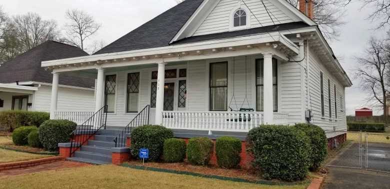 The home of Dr. Martin Luther King Jr. in Montgomery, Alabama where the front porch was bombed.