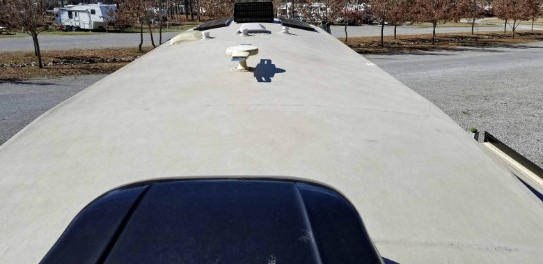 RV roof - EPDM rubber membrane
