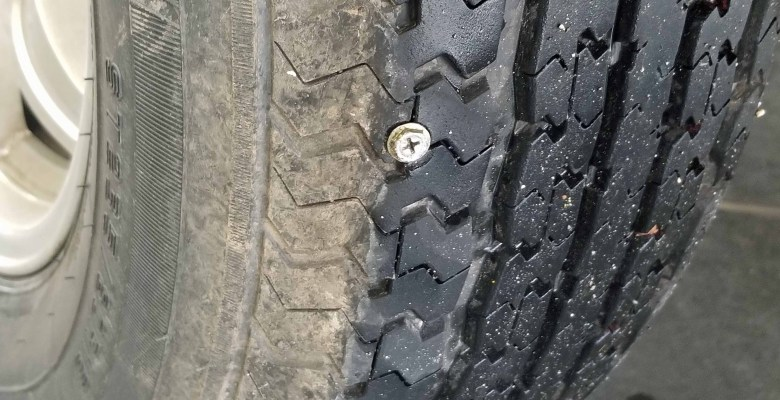 A screw in my RV tire.