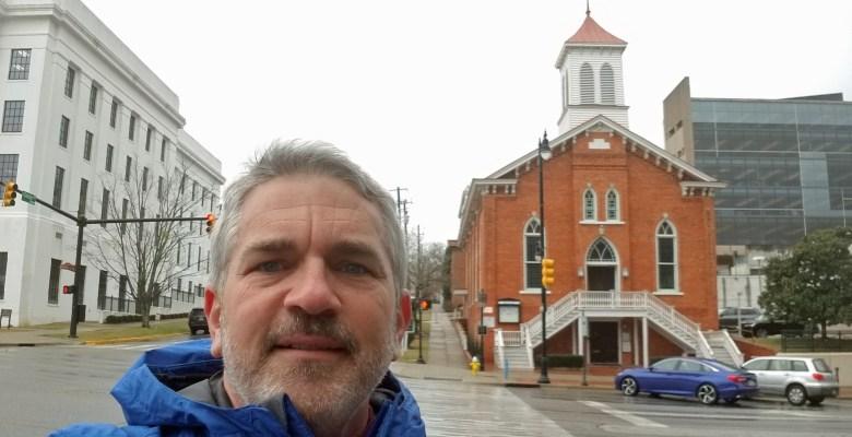 Brad Saum at Dexter Ave Baptist Church in Montgomery, Alabama.