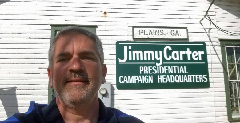 Brad Saum at the Jimmy Carter National Historic Site in Plains, Georgia.