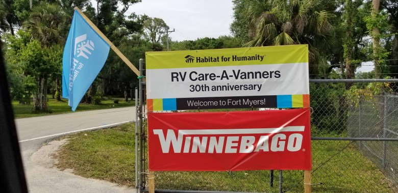 Winnebago was the official sponsor of this 30th Anniversary Build in Fort Myers, Florida.