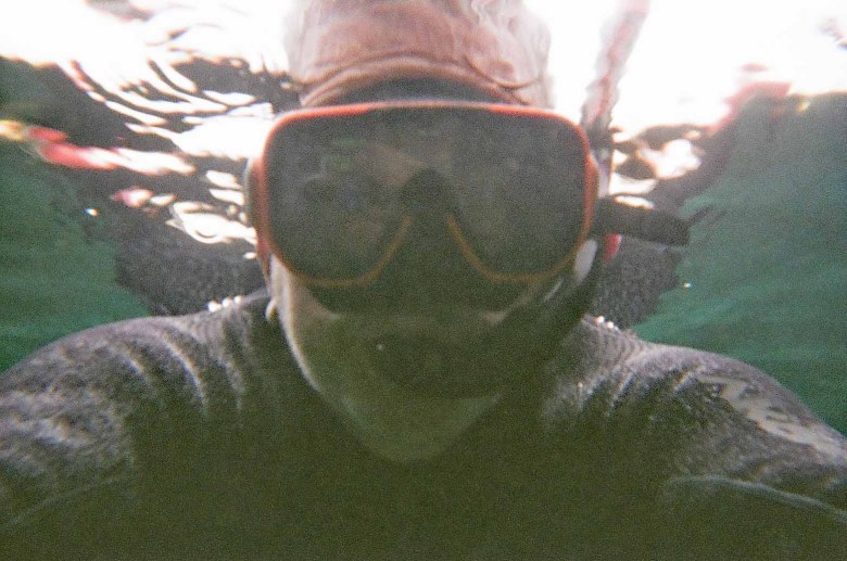 Brad Saum snorkeling