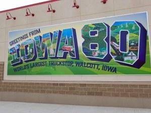 World's  Largest Truck Stop is in Walcott, Iowa.