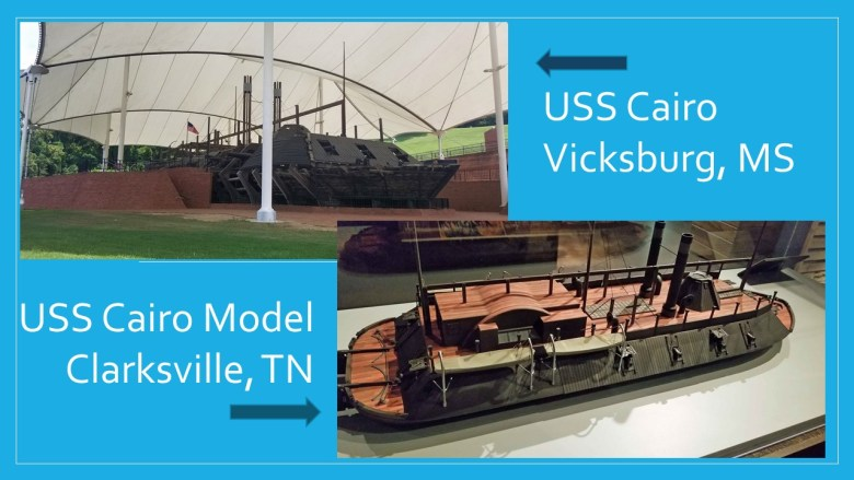 USS Cairo gunship in Vicksburg