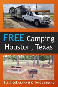 free camping in houston texas pin