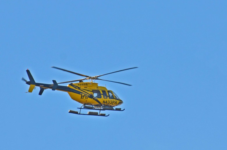Bell 407 helicopter operated by PHI Air Medical along the Louisiana coast and Gulf of Mexico.