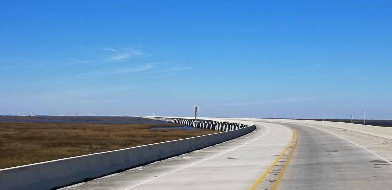 elevated roadways extending to Grand Isle Louisiana