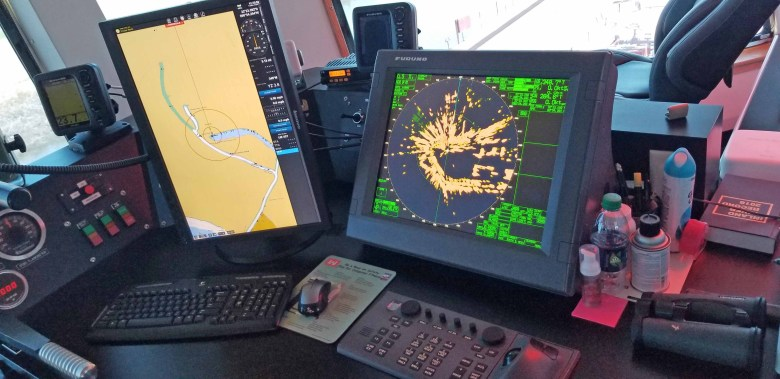 The radar and navigation systems on the William James is computerized.