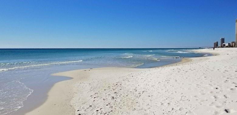 Panama City Beach white sand and water
