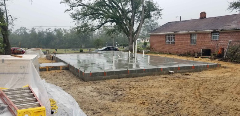 house foundation poured while rebuilding after Hurricane Michael