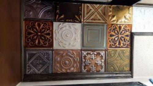ceiling tile sample pack RV backsplash