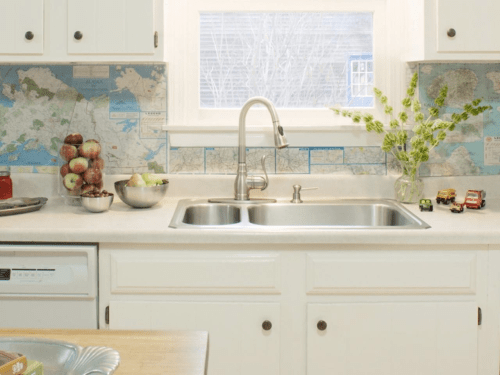 Map backsplash