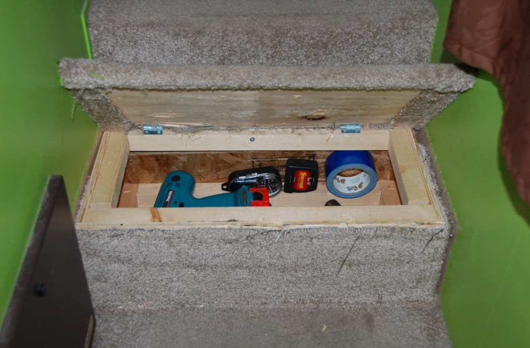 Under stair tool chest