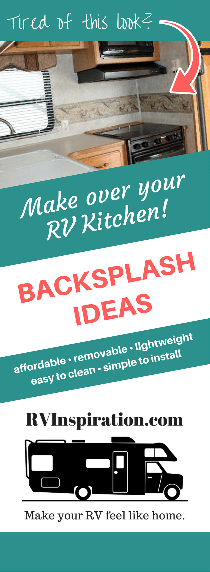 10 Beautiful (and Cheap!) DIY Backsplash Ideas | RV Inspiration