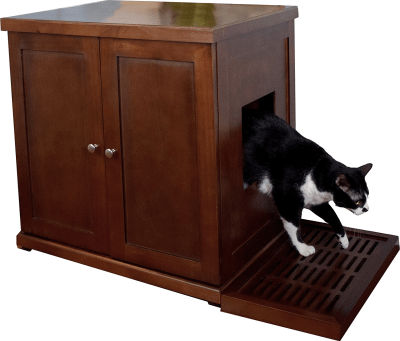 The Refined Feline RLB-MA Wood Cat Litter Box - litter box storage idea for RVs, campers, motorhomes, or small apartments