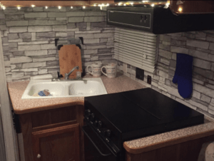 cost to renovate a kitchen sink light fixtures 10 beautiful (and cheap!) diy backsplash ideas | rv ...
