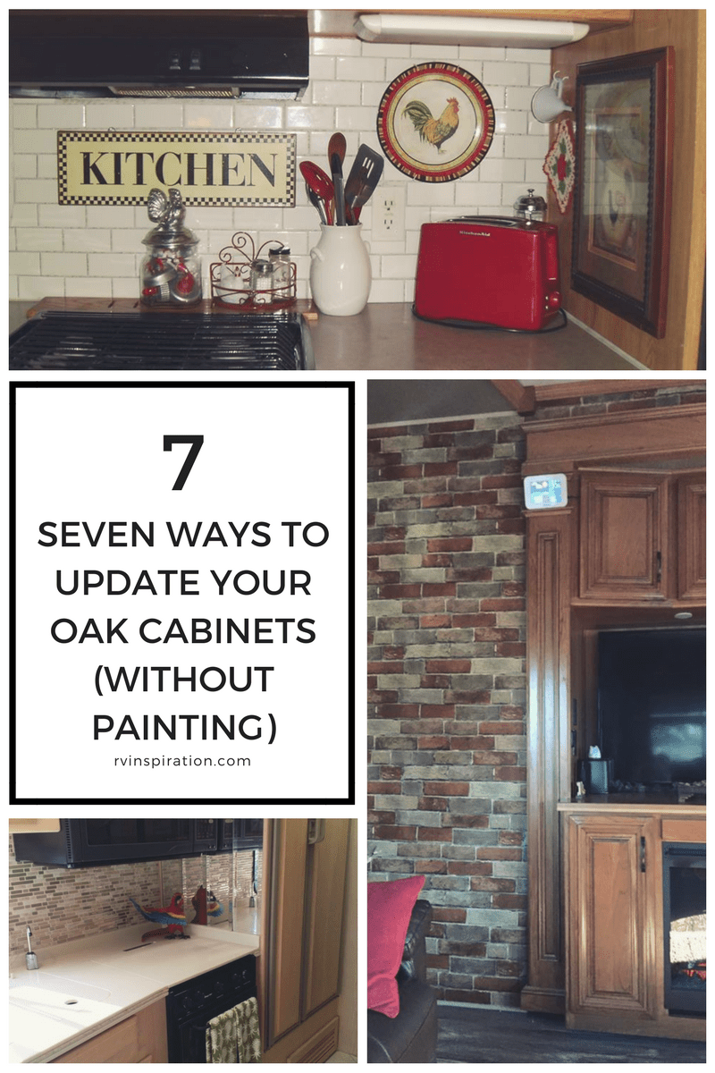 updating oak kitchen cabinets without painting. If painting  staining or replacing your wood cabinets is out of the question try one a few these ideas for fresh look 7 Ideas Updating Wood Cabinets Without Painting Them RV