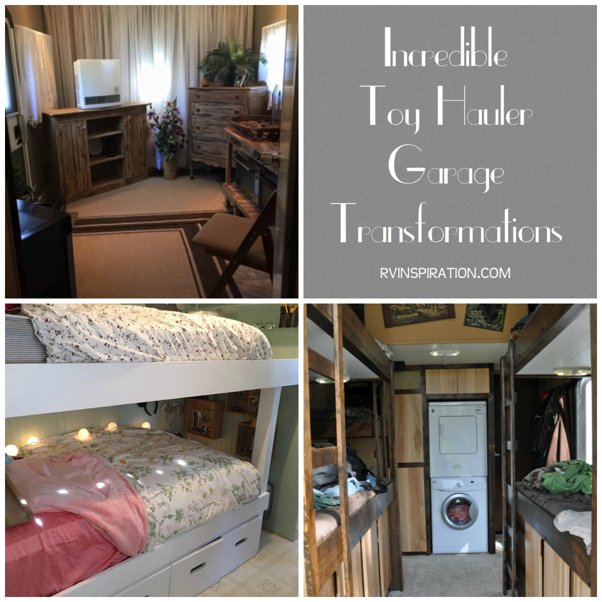 Full Time RVers Need To Maximize Living Space, And One Way Many Choose To  Do This Is By Converting A Toy Hauler Garage Into An Extra Bedroom, Living  Area, ...