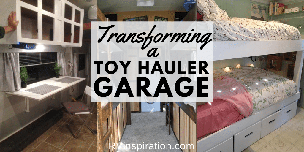 Incredible toy hauler garage transformations rv inspiration
